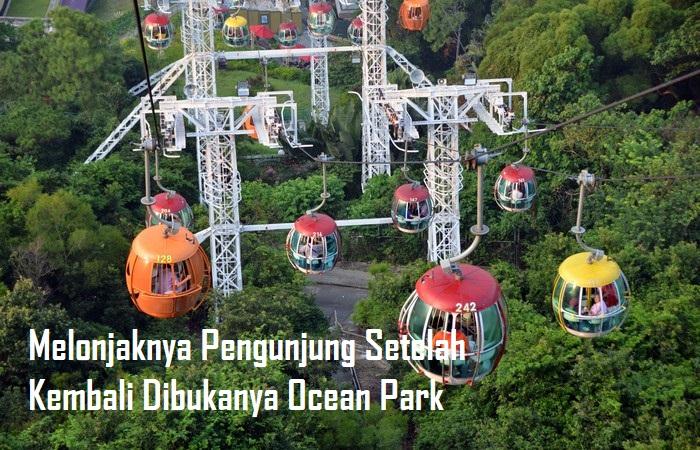 Melonjaknya Pengunjung Setelah Kembali Dibukanya Ocean Park